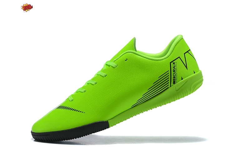 Nike Mercurial VaporX 12 Club IC Nero Verde Scontate