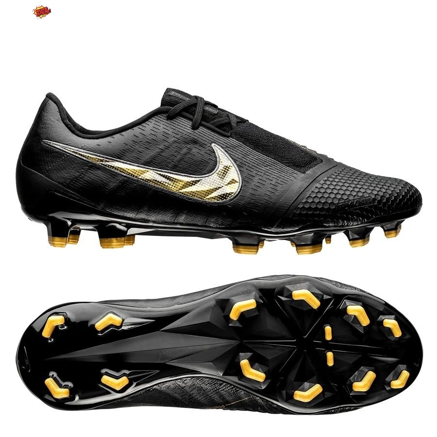 Nike Phantom Venom Elite FG Black Lux Nero Oro Scontate