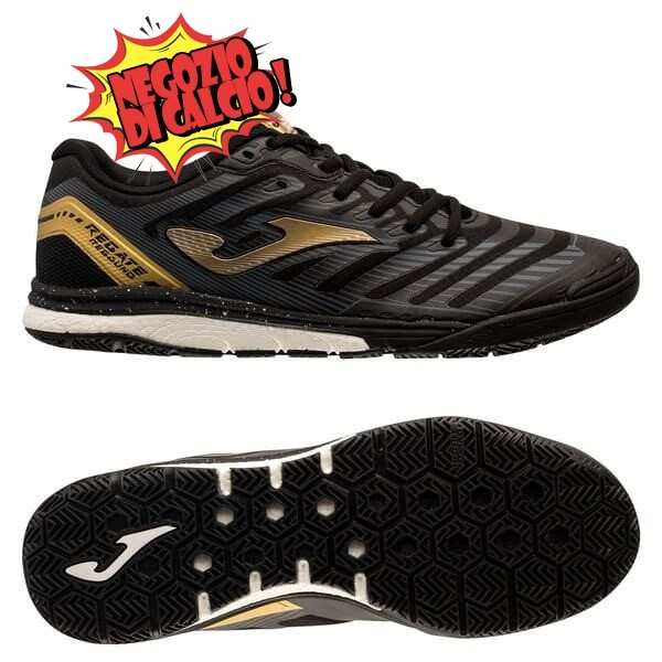 Joma Regate Rebound IN Nero Oro Scontate